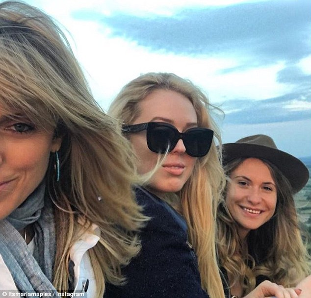 Tiffany Trump on Glastonbury Tor Three American Ladies